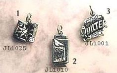 **ON CLEARANCE** All charms are handmade in solid sterling silver. Block charms are designed after quilt block patterns plus there is a collection of quilting and sewing related accessories. Arrives in carded. They make excellent gifts for your friends. You can add your favourite charms to your pins, earrings, necklaces, or bracelets. #shopthelink #jewelry #sewing #iron #style #fashion #sterlingsilver #onsale #clearance #promotions