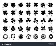 Set Three Four Leaf Clovers Stock Vector (Royalty Free) 257704327 Set Three Four Leaf Clovers Stock Vector (Royalty Free) 257704327 Set of three & four leaf clovers<br> Mini Tattoos, Cute Tattoos, Leaf Tattoos, Small Tattoos, Three Leaf Clover, Four Leaf Clover Tattoos, Four Leaf Clover Drawing, Blatt Tattoos, Shamrock Tattoos