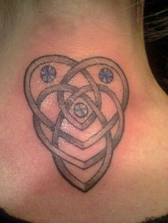 Celtic motherhood knot with children's birthstone