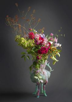 wild centerpieces - like the flower choices