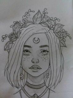 847 best aesthetic drawing images in 2019 Tumblr Sketches, Girl Drawing Sketches, Tumblr Drawings, Cool Art Drawings, Pencil Art Drawings, Drawing Ideas, Girl Sketch, Doodle Drawings, Beautiful Drawings