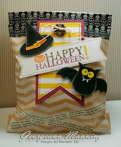 Stampin' Up! Halloween Treat Bag by Stampin' Everything!: Gone Batty!