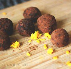 Raw vegan jaffa bliss balls / FGK