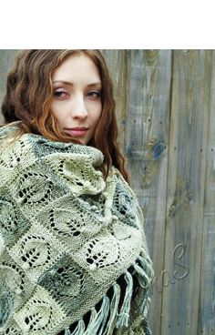 FREE SHIPPING Hand knit shawl  handmade shawl  boho от TominasName
