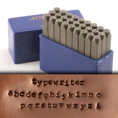 """Typewriter Lowercase Letter Stamp Set 5/64"""" (2mm)"""