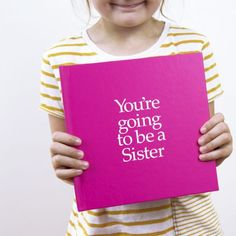 Sister To Be Gift Book With Socks For Adult & Newborn & Personalised Card – And So To Shop