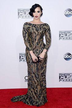 Demi Lovato attending the 2015 American Music Awards in Los Angeles, California Demi Lovato, Vanity Fair, Nice Dresses, Amazing Dresses, Formal Dresses, Selena Gomez, Kendall, American Music Awards 2015, Boy Or Girl