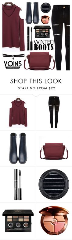 """""""Yoins - So Cozy: Winter Boots"""" by dora04 ❤ liked on Polyvore featuring River Island, MAC Cosmetics, Bobbi Brown Cosmetics, Guerlain, Fallon, winterboots, yoins, yoinscollection and loveyoins"""