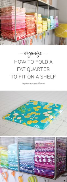 How to Fold a Fat Quarter and Half Yard