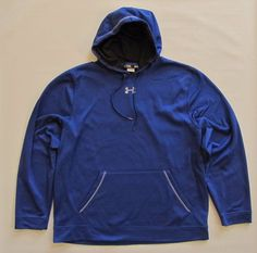 Under Armour Loose Fit Hoodie XL Cold Gear Blue UA Armour GottaHaveIt 1250702 #Underarmour #Hoodie