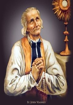 """""""Jesus' presence in the Holy Eucharist is like the sun shining its bright rays of grace over our souls filling them with peace and joy, chasing away the dark clouds of sadness and loneliness that often try to come in our souls and in our lives."""" - St. John Vianney"""