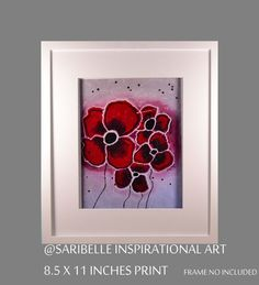 Laser print of original acrylic painting on canvas by SaribelleArt