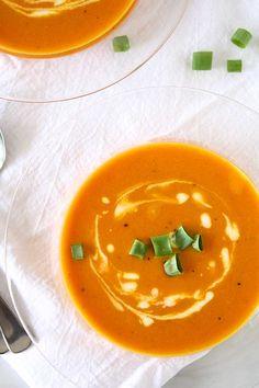 Orange Tomato, Turmeric, Coconut Soup - The Kitchen Paper