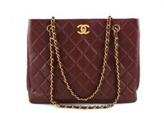 Chanel Chestnut Brown Classic Quilted Shopper Tote Bag