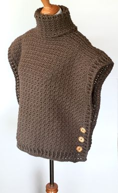 A cowl neck crochet poncho pattern for when you need poncho to keep you extra warm. This cowl poncho is sized to fit all ages.