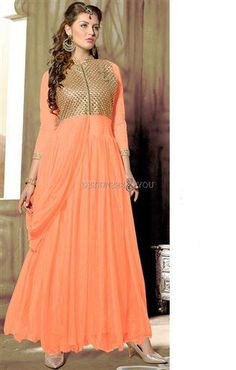 Indian engagement dresses for modern girl, simple dresses gown for wedding, indian gowns designs for marriage season to blast in new style and stun everyone Indian Engagement Dress, Engagement Dresses, Indian Gown Design, Gown Pattern, Indian Gowns, Embroidery Fashion, Thread Work, Prom Dresses, Formal Dresses