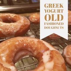 Greek Yogurt Old Fashioned Doughnuts