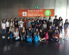 A l'aeroport nois I noes de #Worthing. Bon viatge! #anglès #inglés #English #Barcelona #We LoveBS #aeropuerto #adolescentes #teens #travel #viatge #viaje #jesuîtes