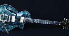 "Giuseppe Cassata auf Instagram: ""Blue Lagoon. Rock, Blues and Elegance. #bianguitars"" Custom Guitars, Blue Lagoon, Rock, Beautiful Hands, Blues, Music Instruments, Instagram, Skirt, Musical Instruments"