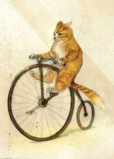retro cat tattoo idea