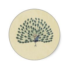 Vintage Peacock Envelope Seal Wedding Round Stickers at http://www.zazzle.com/vintage_peacock_envelope_seal_wedding_sticker-217815860403436535?rf=238505586582342524