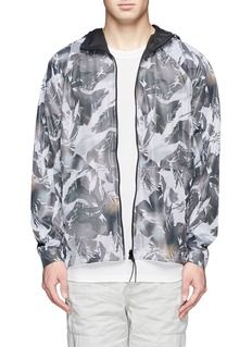 THEORY'Fractor' floral print mesh jacket