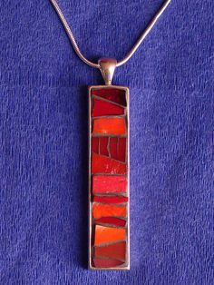 Red Mosaic Pendant by Mosaic Geek, via Flickr