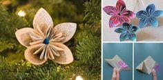 Ako si vyrobiť vianočnú ozdobu na stromček z novinového papiera