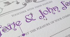 This logo was created as part of an illustrated invitation featuring the story of how Jane and John Joe met. The logo was used through out t. Wedding Logos, Wedding Signage, Card Envelopes, Monograms, Thank You Cards, Initials, Symbols, Invitations, Appreciation Cards