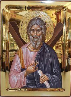 Religious Images, Religious Icons, Saint Antonio, Andrew The Apostle, Byzantine Icons, Orthodox Christianity, St Andrews, Orthodox Icons, Roman Catholic