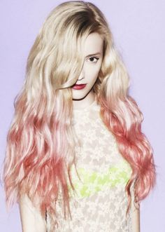 26 Inch Wavy Blonde to Pink Human Hair Ombre Wigs Pink Ombre Hair, Hair Color Blue, Ombre Rose, Red Ombre, Hair Colours, 100 Human Hair, Human Hair Wigs, Pretty Hairstyles, Wig Hairstyles