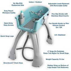 The Booster Bath, Elevated Dog Bathing and Grooming Tub is designed make bathing and grooming your dog easy and fun. Proper pet grooming is an important part of your dog's health. The easier it is, th