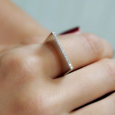 """Slice"" Diamond Ring - Plukka - Shop Fine Jewelry Online"