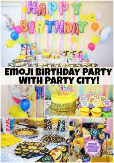 An Emoji themed party is what every kiddo needs! @partycity has all of your party planning needs! Including these emoji/smiley products! Check it out yourself!