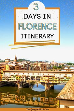 Dreaming a vacation in Italy? Florence is one of Italy's most beautiful cities. Everywhere you look, there are must see historic landmarks, incredible architecture, and Renaissance gems. This Forence itinerary gives you a 3 day plan for exploring Florence. It covers everything you need to do and see in Flornece -- world class museums, glamorous palaces, famous paintings, and cute neighborhoods. From the Uffizi Gallery to the Pitti Palace, you'll fin the best things to do and see in Florence. Florence, The Cure, Florence Italy