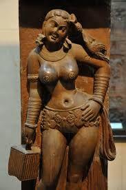 File:Yakshi - Railing Pillar - 2nd Century CE - Sand Stone - Mathura - Indian Museum - Kolkata