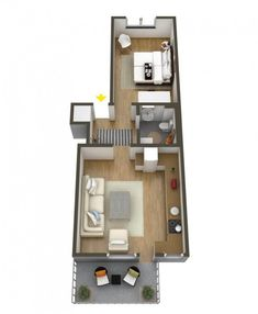 Bungalow House Plans, Small House Plans, House Floor Plans, Apartment Floor Plans, Bedroom Floor Plans, Home Design Plans, Plan Design, Small House Design, House Layouts