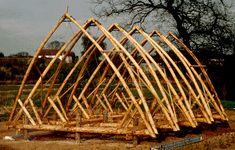 Malcolm Chrisp and Charles Gulland Whalebone longhouse, Ayrshire, Scotland. Made using softwood thinnings