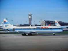 Air Inter Caravelle original Gouache on Ebay