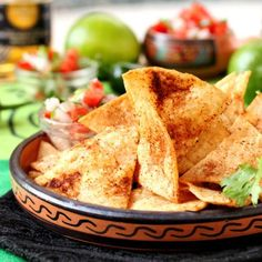 Chipotle Lime Tortilla Chips - amp up homemade tortilla chips with chili powder and lime.