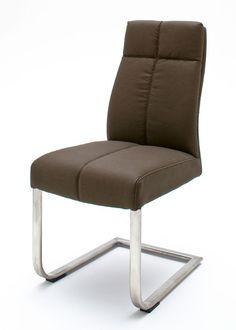 Schwingstuhl Lounge C Strukturoptik Braun 7924. Buy now at https://www.moebel-wohnbar.de/schwingstuhl-lounge-c-2er-set-freischwinger-strukturoptik-braun-7924.html