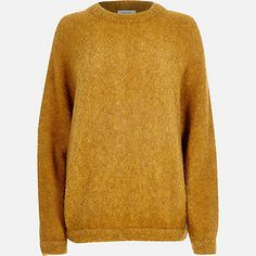 Yellow brushed wool-blend knitted jumper £38.00