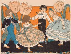 estoriasdacarochinha: The Dancers, illustrator Shirley Kite by. Vintage Book Art, Children's Book Illustration, Art Inspo, Flower Art, Art Reference, Illustrators, Tarot, Character Design, Sketches