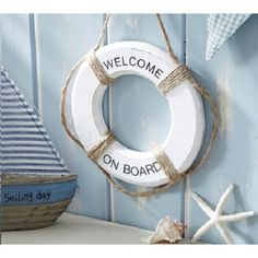 This Small Wooden Buoy Decoration With U201cWelcome Aboardu201d Wording Is A Great  Addition To · HangersNauticalCreative Ideas