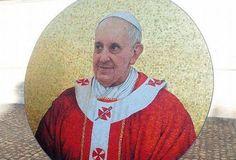 Listo el mosaico del Papa Francisco para Basílica de San Pablo de Extramuros
