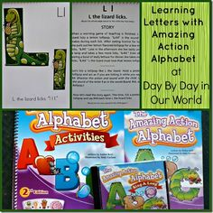 Learning Letters with Amazing Action Alphabet; reviewed at Day by Day in Our World