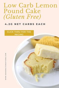 This Low Carb Lemon Pound Cake is perfect for spring! Just 4.2g net carbs per serving for this keto dessert recipe. Ideal Mother's Day dessert or enjoy over a spring brunch! Great Easter brunch recipe too! Click through for the full recipe. #ketodessert #ketorecipe #healthydessert #glutenfree #glutenfreedessert #lowcarbrecipe #lowcarbdessert #lowsugardessert #lowsugarrecipe #mothersdayrecipe #mothersday #Easter Low Sugar Cookies, Low Sugar Snacks, Low Sugar Desserts, Low Sugar Recipes, Gluten Free Desserts, Healthy Desserts, Baking Recipes, Dessert Recipes, Gluten Free Pound Cake