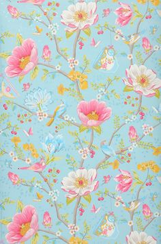 Luna | Floral wallpaper | Wallpaper patterns | Wallpaper from the 70s
