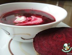 Рецепт: Самый красный борщ Chili, Good Food, Food And Drink, Pudding, Vegetables, Cooking, Desserts, Recipes, Soups