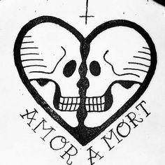 Gahhh I love this Skull Couple Tattoo, Couple Tattoos, Poke Tattoo, Dark Tattoo, Hearts And Bones, Dream Tattoos, Tattoo Stencils, Dark Photography, Body Mods